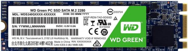 Накопитель SSD M.2  480GB WD Green WDS480G2G0B