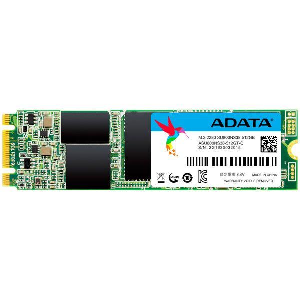 Накопитель SSD M.2  512GB A-Data Ultimate SU800 (ASU800NS38-512GT-C)